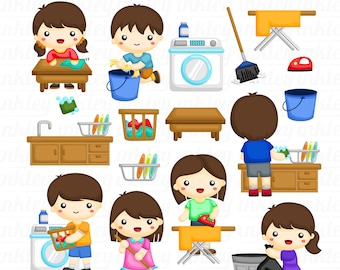 Kids and Activities Clipart - House Object Clip Art - Cute Kids - Free SVG on Request