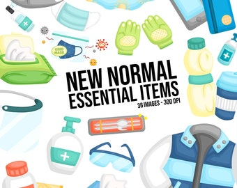 New Normal Essential Item Clipart - Equipment Clip Art - Item Object - Free SVG on Request
