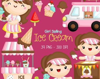Ice Cream Truck Clipart - Kids and Food Clip Art - Cute Kids and Food -  Free SVG on Request