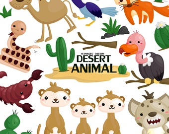 Desert Animal Clipart - Cute Animal Clip Art - Wild Animal - Free SVG on Request