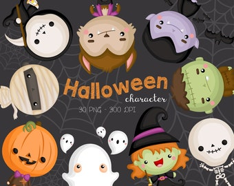 Halloween Costume Clipart - Cute Monster Clip Art - Cute Characters - Free SVG on Request