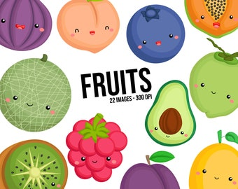 Healthy Fruits Clipart - Coconut Clip Art - Fresh Food - Free SVG on Request