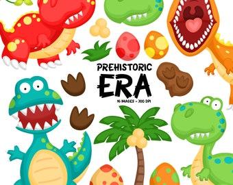Cute Dinosaur Clipart - Colorful Dinosaur Clip Art  - Prehistoric Era - Free SVG on Request