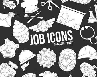 Job and Occupation Clipart - Cute Job Clip Art -  Icon Clipart - Free SVG on Request
