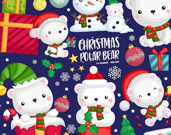 Chirstmas Snowman Clipart - Cute Snowman Clip Art - Chirstmas and Present - Free SVG on Request