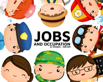 Job and Occupation Clipart - Cute Job Clip Art -  Profession Clipart - Free SVG on Request