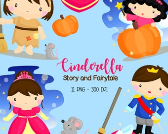 Cinderella Story Clipart - Story and Fairytale Clip Art - Princess Tale - Free SVG on Request