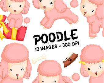Poodle Breed Clipart - Cute Dogs Clip Art - Cute Dogs - Free SVG on Request