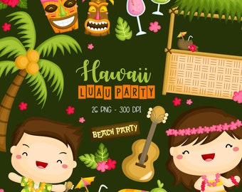 Hawaii Luau Culture and Tradition Clipart - Coconut Tree Clip Art - Country Culture - Free SVG on Request