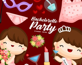 Bachelorette Party Clipart - Bride to be Clip Art - Floral Arrangement - Free SVG on Request