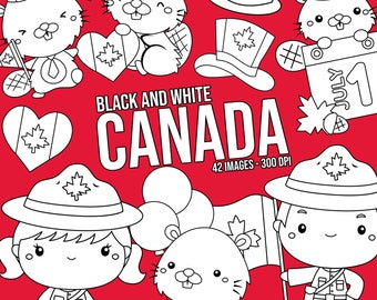 Canada Culture Clipart - Beaver Clip Art - Black and White - Free SVG on Request
