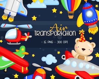 Air Transportation Clipart - Cute Bear Clip Art - Cute Airplane - Free SVG on Request