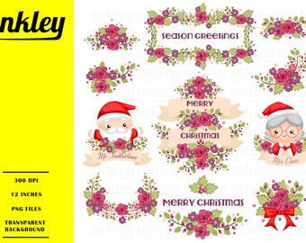 Santa Claus Clipart - Grandmother and Grandfather Clip Art - Free SVG on Request