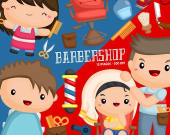 Hairdresser Salon Clipart - Barbershop Clip Art - Job and Occupation - Free SVG on Request