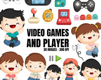 Video Game Clipart - Cute Kids Clip Art - Game Console - Free SVG on Request