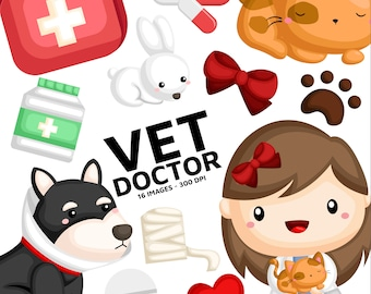 Animal Vet Clipart - Cute Animal Clipart - Job and Occupation - Free SVG on Request
