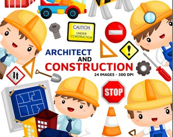 Architect and Consruction Clipart - Job and Occupation Clip Art - Profession - Free SVG on Request