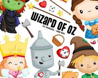 Wizard of Oz Clipart - Kids Story Clip Art - Fairytale Fantasy - Free SVG on Request