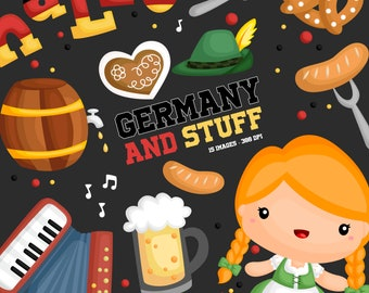 Germany Culture Clipart - Germany Food and Beverage Clip Art - Free SVG on Request