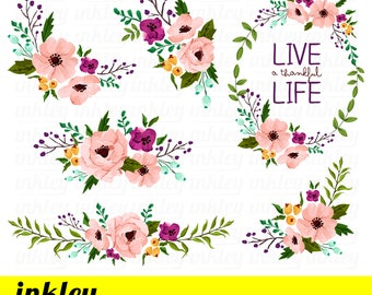 Floral clipart watercolor flowers clipart pink floral clipart etsy pink flower clipart pink flower clip art pink flower png pink floral clipart watercolor floral clipart watercolor pink flower clipart mightylinksfo