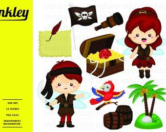 Pirate Fairy Clipart - Pirate Flag Clip Art - Cute Kids - Free SVG on Request