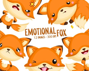 Emotional Fox Clipart - Cute Animal Clip Art - Wild Animal - Free SVG on Request