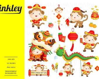 chinese new year clipart chinese new year clip art chinese new year png cny cute monkey clipart tradition clipart new year clipart