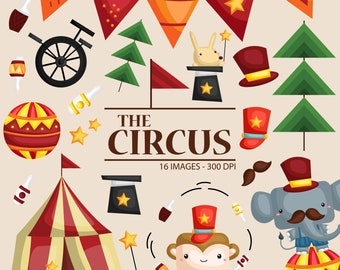 Circus Animal Clipart - Carnival in the City - Cute Animal -  Free SVG on Request