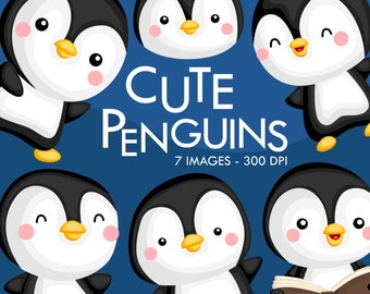 Cute Penguin Clipart - Cute Bird Clip Art - Arctic Animal -  Free SVG on Request
