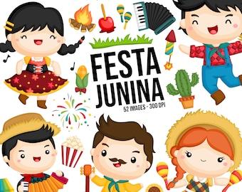 Festa Junina Clipart - Brazil Clip Art - June Festival - Free SVG on Request