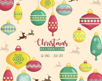 Chritmas Decoration Clipart - Chirstmas Clip Art - Holiday Celebration - Free SVG on Request