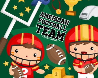American Football Clipart - Sport Game Clip Art - Thropy and Medal - Free SVG on Request