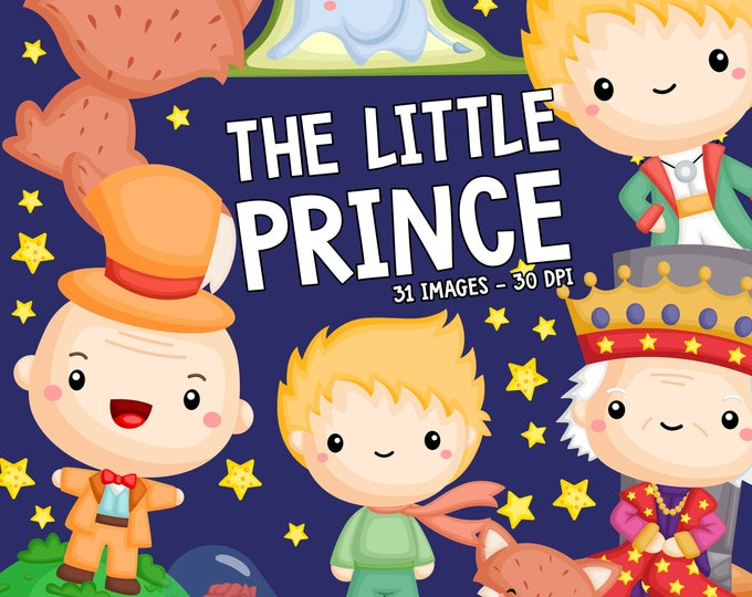 Featured listing image: The Little Prince Clipart - Kids Stories Clip Art - Cute Stories Clipart - Free SVG on Request