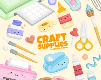 Craft Supplies Clipart - Hobby Clip Art - Equipment Clipart - Free SVG on Request