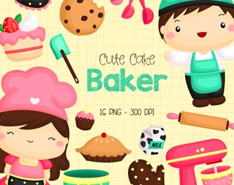 Bakery Studio Clipart - Cookie and Sweets Clip Art - Food and Dessert - Free SVG on Request