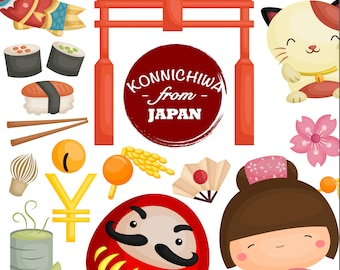 Japan Culture Clipart - Food and Drinks Clip Art - Object and Tradition - Free SVG on Request