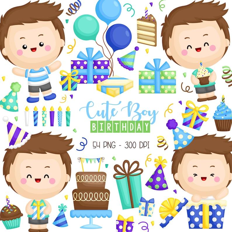 Cute Birthday Clipart Birthday Celebration Clip Art Cute Etsy