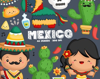 Mexico and Tradition Clipart - Cute Country Clip Art - Object and Culture - Free SVG on Request