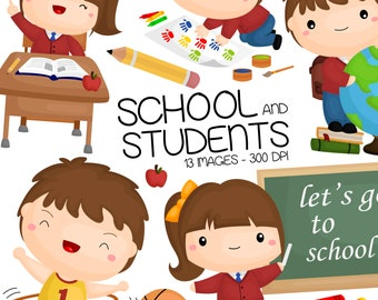 School Activity Clipart - Learning and Study Clip Art - Education and School - Free SVG on Request