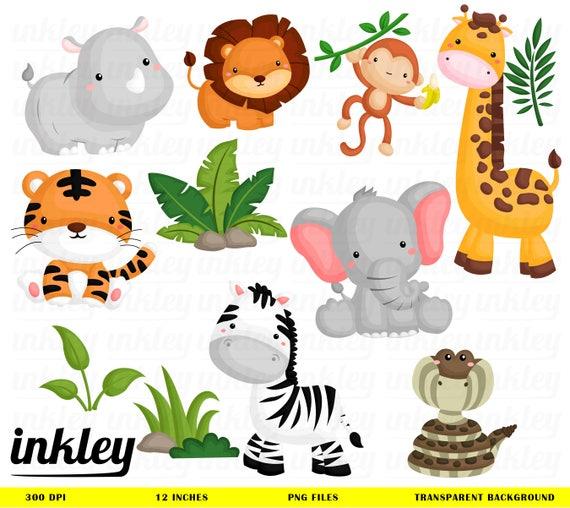 Image Animaux De La Jungle jungle animal clipartjungle clip art jungle animal png | etsy