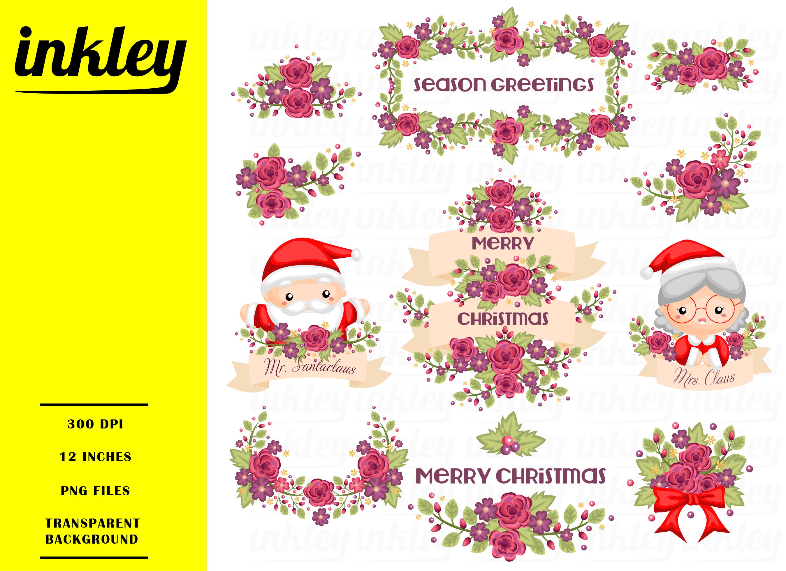 Weihnachten Clipart ClipArt Weihnachten Weihnachten Png | Etsy