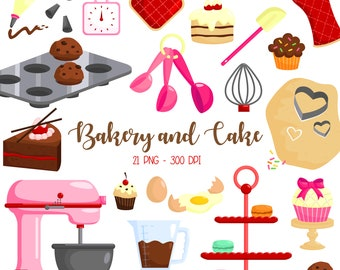 Bakery and Cake Clipart - Cake and Baking Clip Art - Food and Sweets - Free SVG on Request
