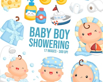 Cute Baby Boy Clipart - Cute Babies Clip Art - Baby Showering - Free SVG on Request