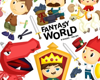 Fantasy World Clipart - Magical Story Clip Art - Storytelling -  Free SVG on Request
