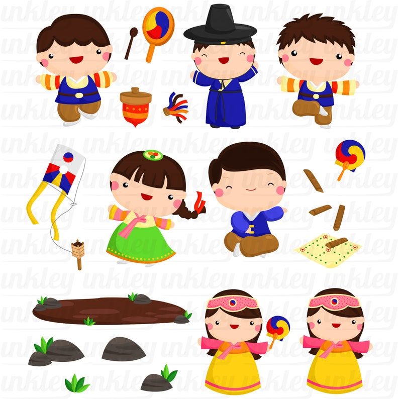 Korean Family Clipart Culture and Tradition Clip Art Cute ...