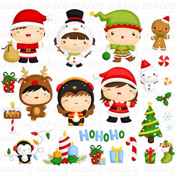 cute christmas clipart santa claus clip art cute winter etsy cute christmas clipart santa claus clip art cute winter animal free svg on request