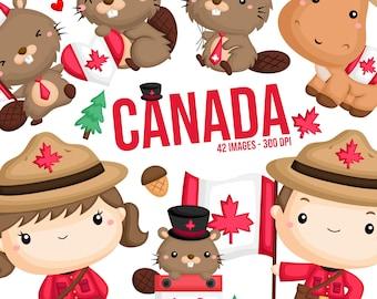 Canada Culture Clipart - Beaver Clip Art - Cute Moose - Free SVG on Request