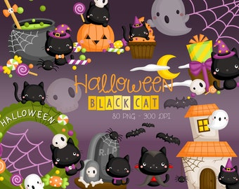 Halloween Party Clipart - Halloween Pumpkin Clip Art - Ghost and Monster - Free SVG on Request