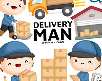 Delivery Man Clipart - Postman Clip Art - Job and Occupation - Free SVG on Request
