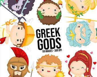 Greek Gods Clipart - Greek Clip Art - Greece Clip Art- Free SVG on Request